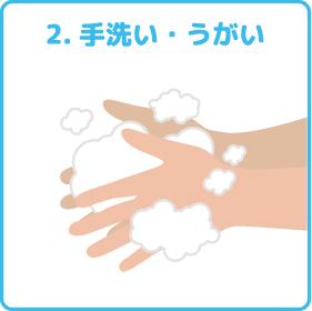 2.手洗い・うがい